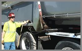 Transfer trailer safety