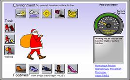 Santa tarping simulation tool