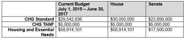 CHG Budget Chart