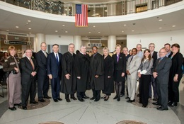 Elected officials and dignitaries at Nov. 1 opening ceremony