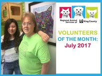 RASKC volunteer of the month - july 2017