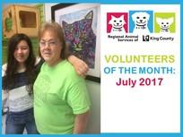 RASKC volunteer of the month - july 2017