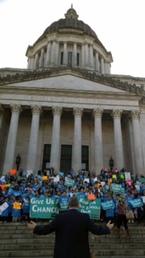 public charter school rally