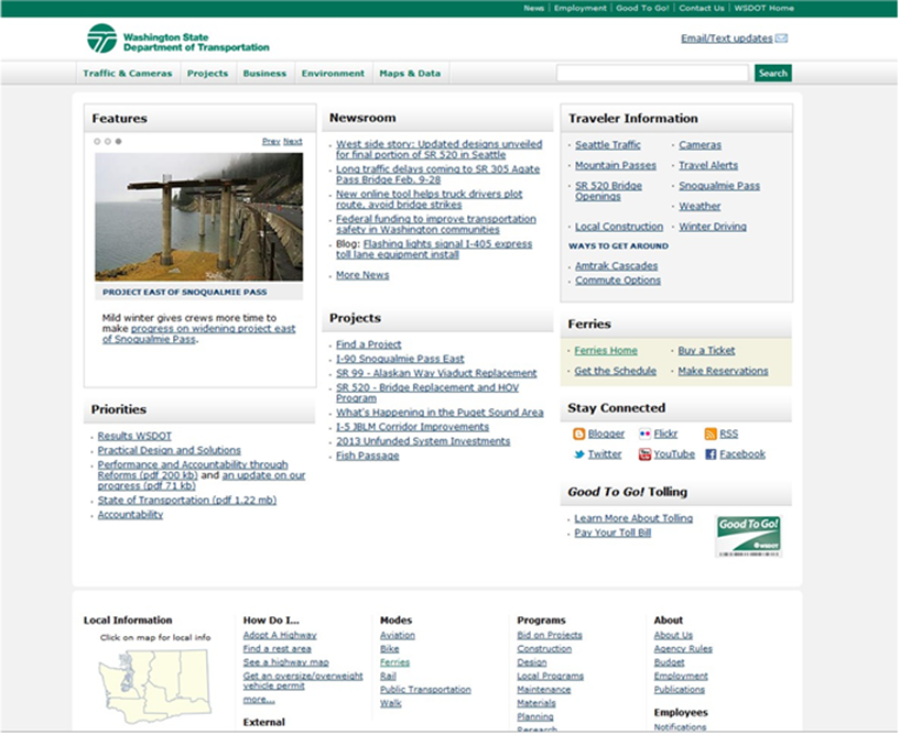 WSDOT website example