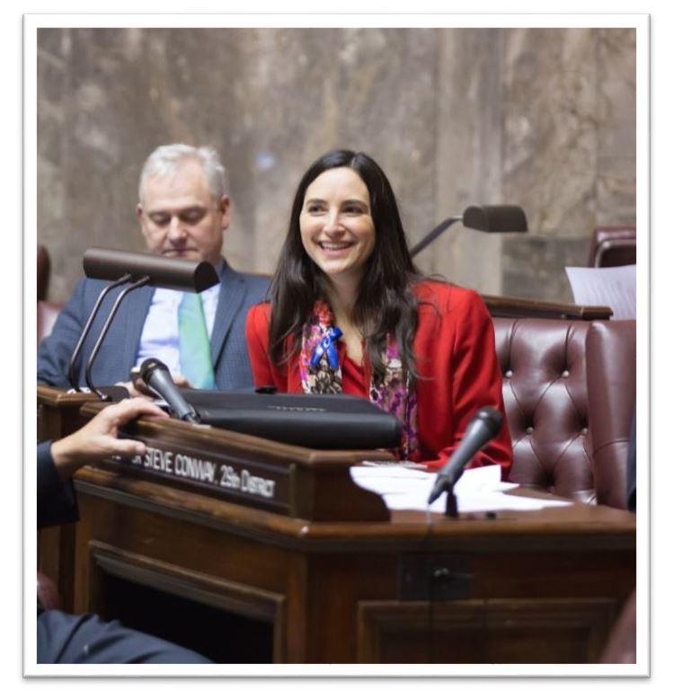 Saldana Senate floor with frame