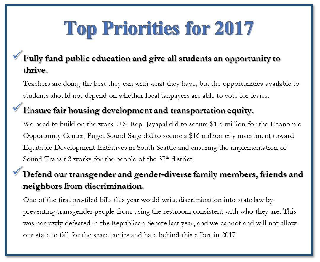 Top priorities 2017