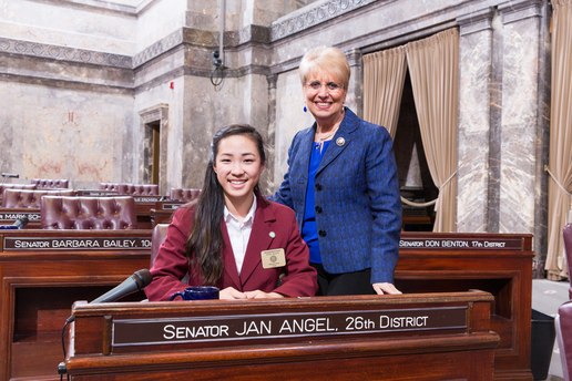 Senate Page Helen Kim