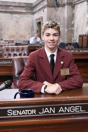 Senate Page Trevor Kvinsland