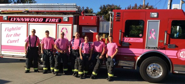 Pink Truck with Crew