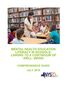 Mental Health Education Literacy in Schools
