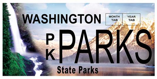 Parks license plate