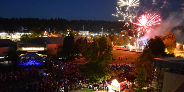Fireworks at Redmond Lights
