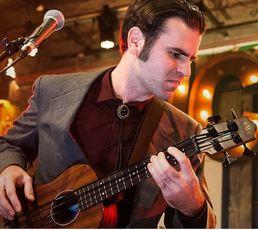 Birch Pereira playing guitar