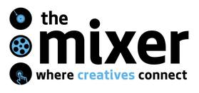 """The Mixer: Where Creatives Connect"" logo"