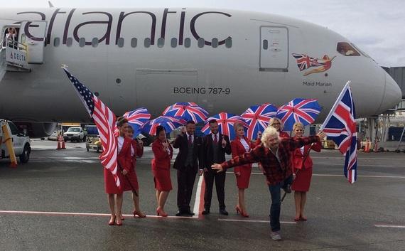 Branson by plane