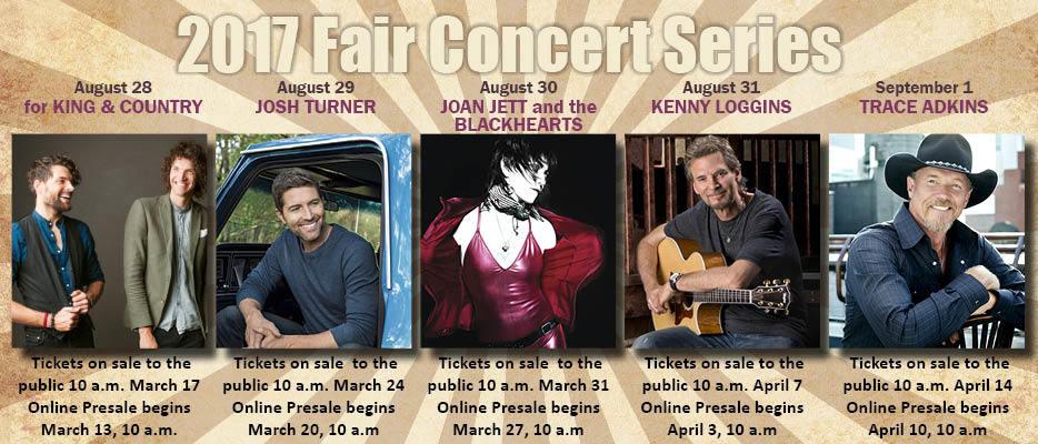 2017 Evergreen State Fair Concert Lineup