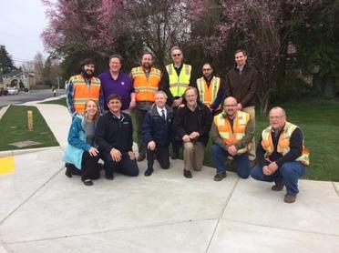 6th Ave Sidewalk project April 2017