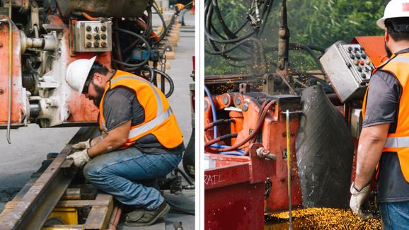 Mercer Island rail welding 2