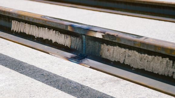 Mercer Island rail weld inspection