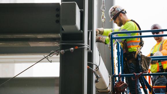 Mercer Island rail lowering crossbeams