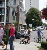 bike + bus + pedestrians