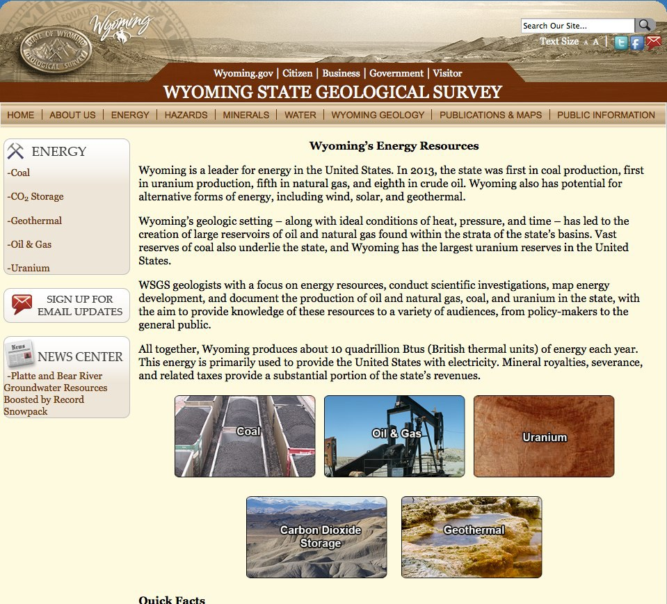 WSGS energy website.
