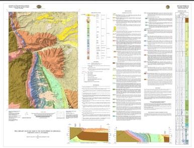 North Ridge Map, Wyo