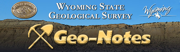 Wyoming State Geological Survey Geo Notes banner image