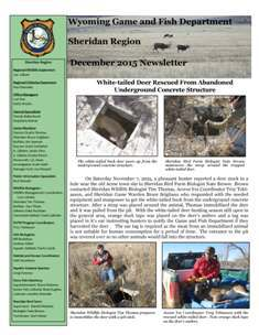 Wyoming game and fish sheridan region december 2015 newsletter for Wy game and fish