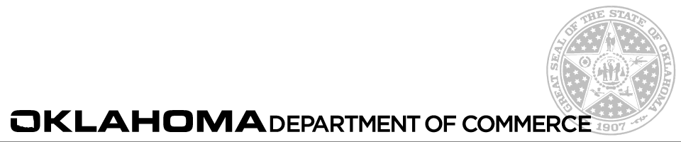 Oklahoma Department of Commerce Subscription Banner