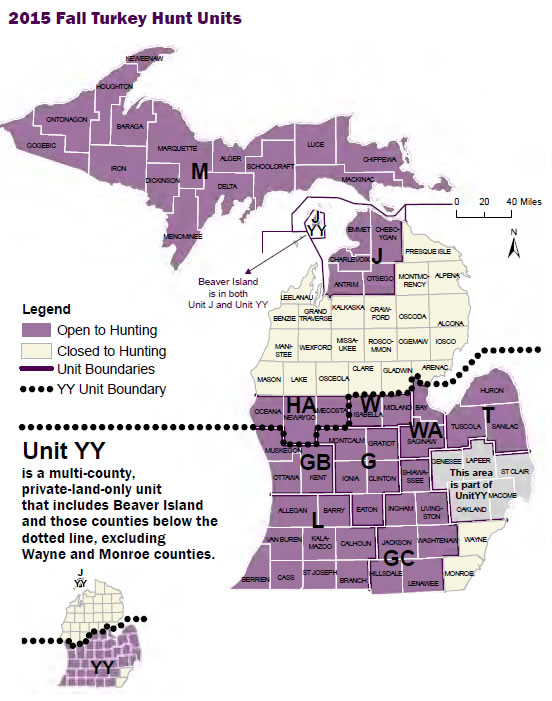 Dnr reminds hunters there 39 s still time for fall turkey hunting for Michigan one day fishing license