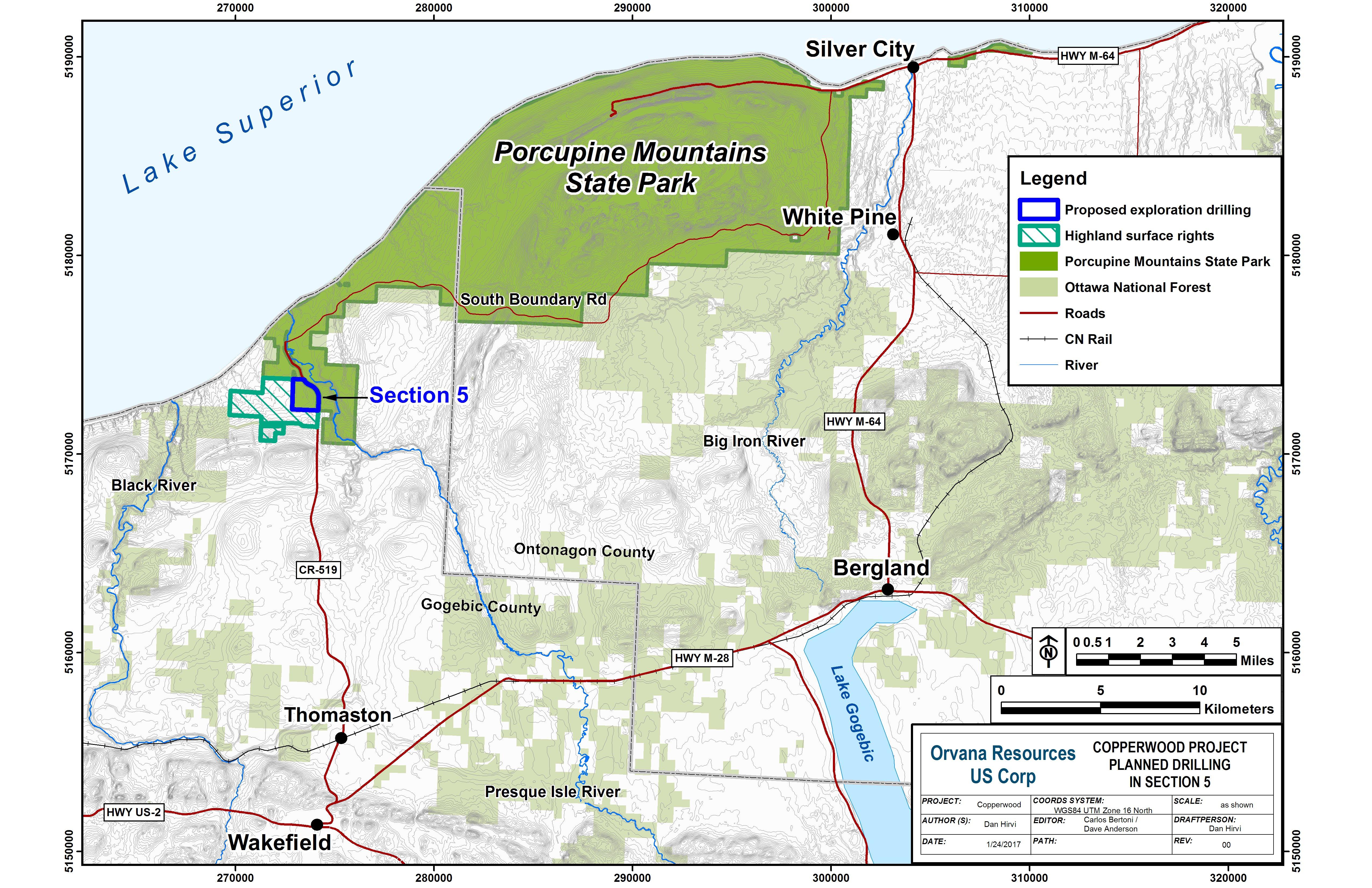 DNR  DNR announces exploratory copper drilling project at