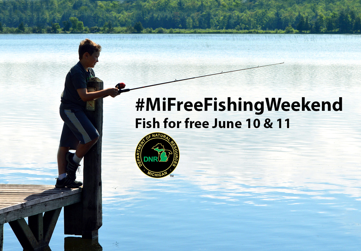 Dnr fun events planned across state for free fishing for Michigan fishing regulations 2017