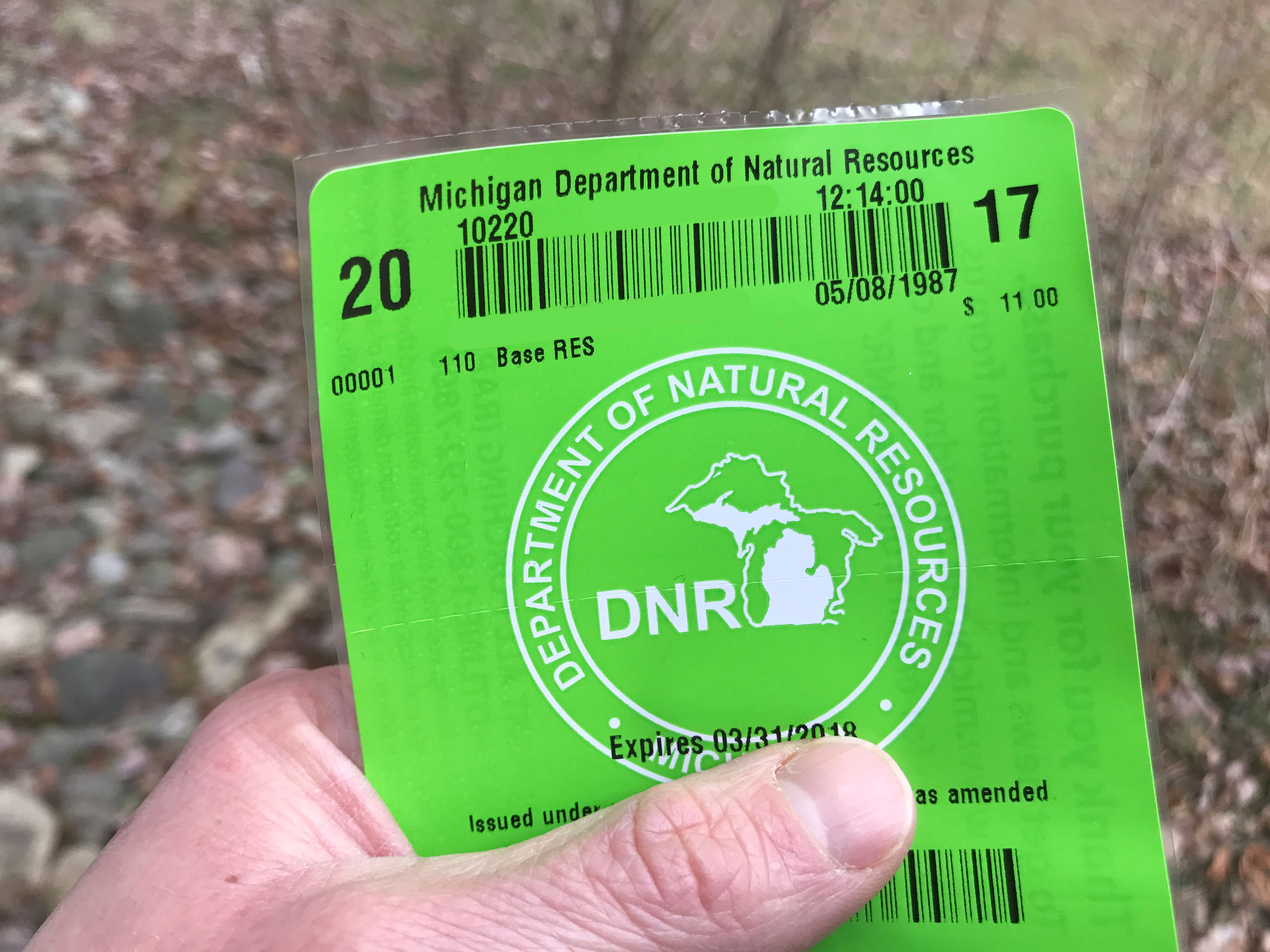 Dnr december grouse season offers chance to expand for Michigan fishing license cost 2017