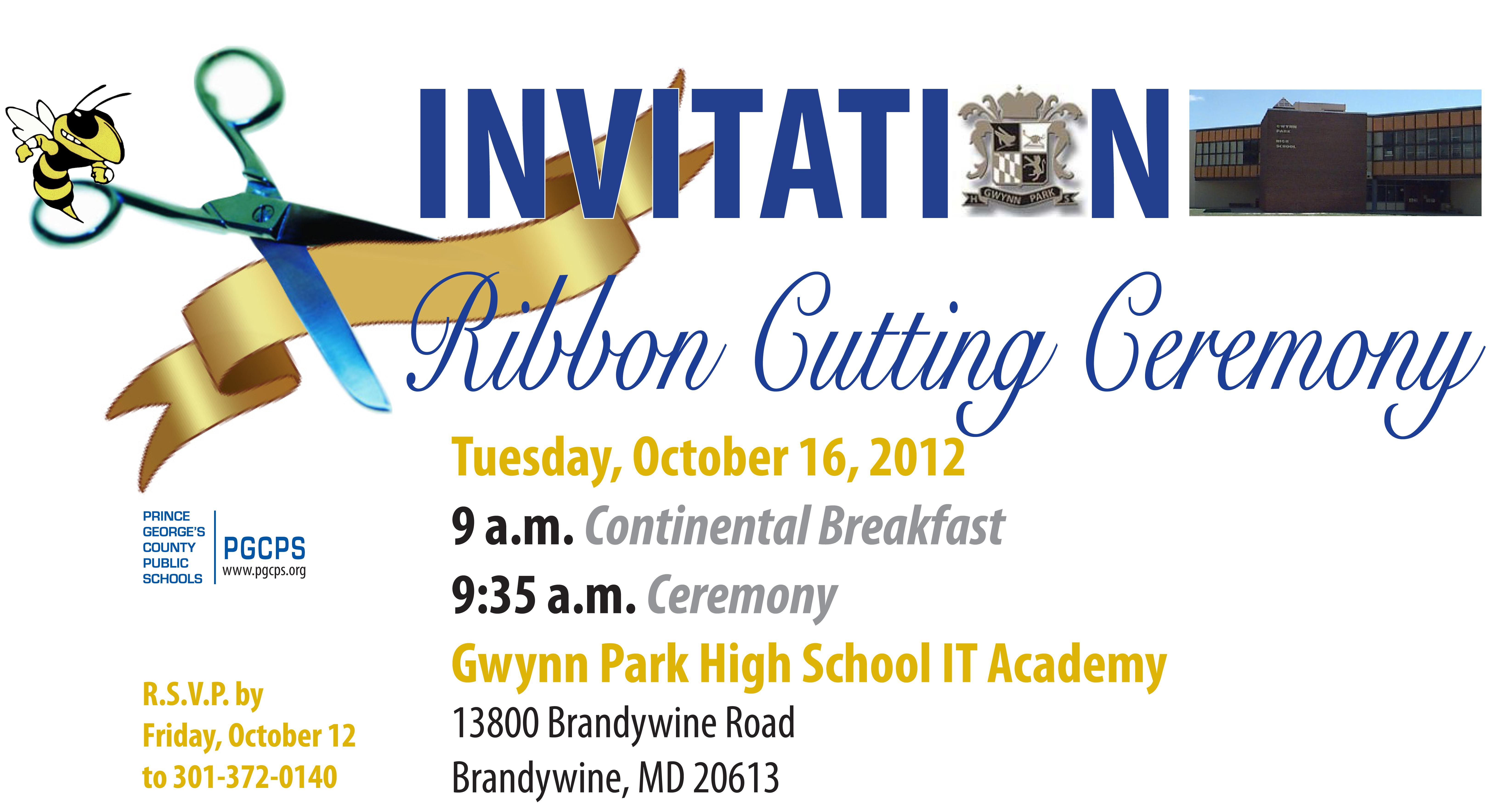 Gwynn park hs it academy ribbon cutting ceremony stopboris Gallery