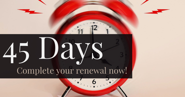 45 days left to renew your application.