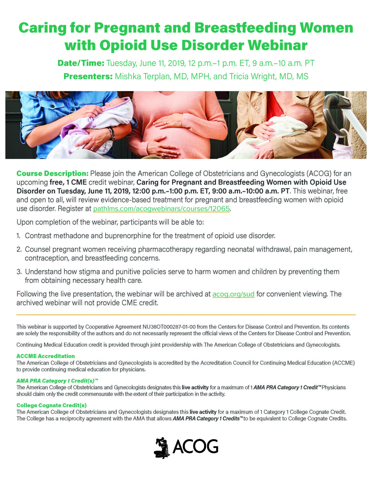 Opioid Use Disorder Webinar Flyer