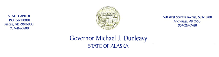 State of Alaska Governor Mike Dunleavy