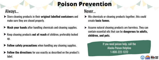 If you need poison help, call the Alaska Poison Helpline at 1-800-222-1222 for free poison assistance 24/7.