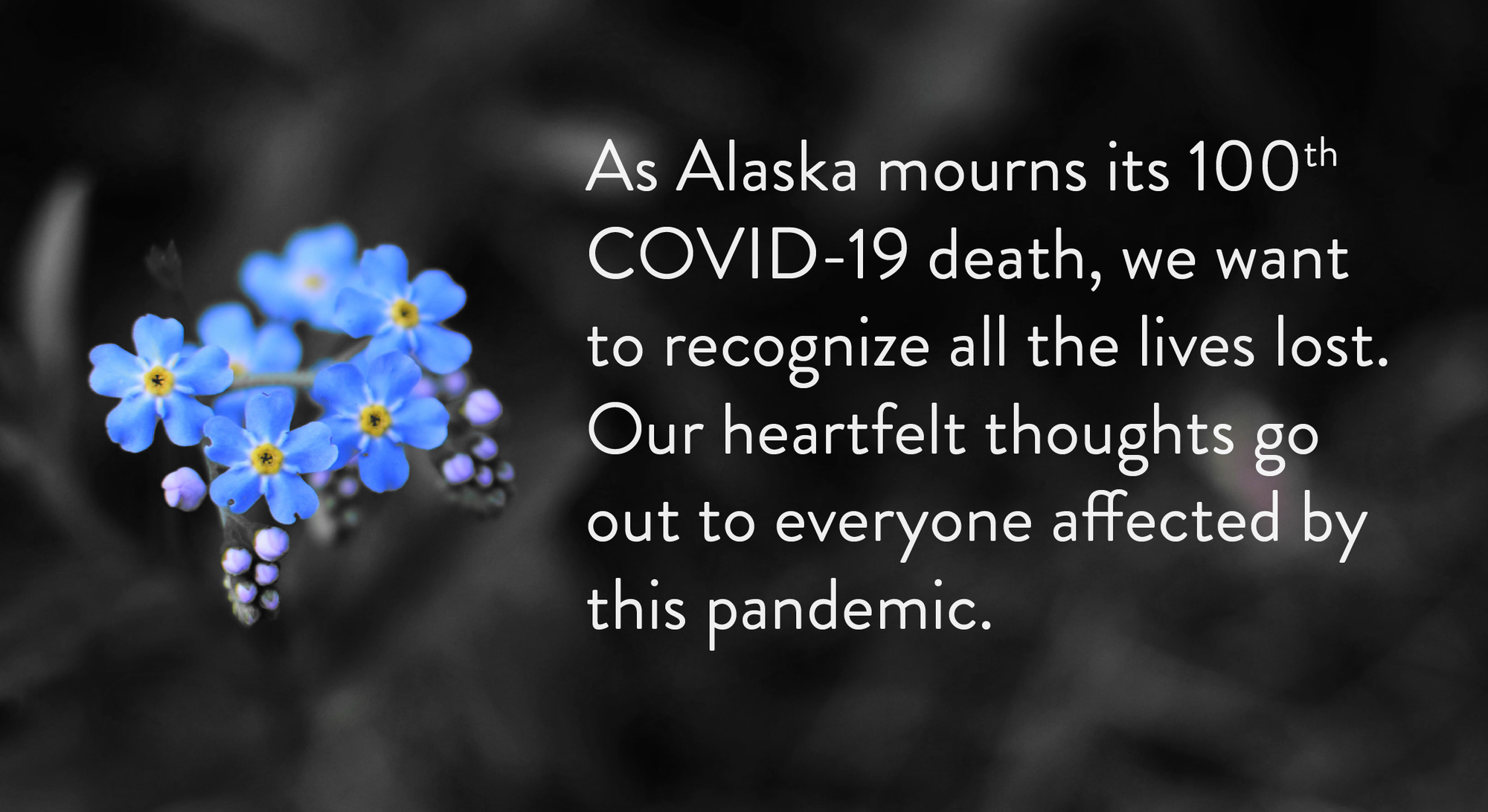 Acknowledgement of 100 deaths from COVID-19