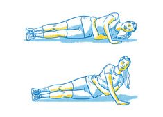 one arm side pushup