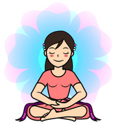 Mindfulness yoga girl