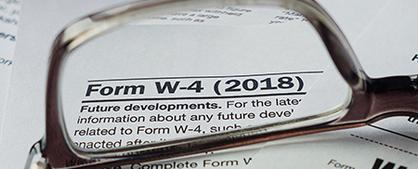 2018 W-4 form