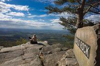 Cheaha bald rock hiker