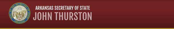 arkansas secretary of state john thurston