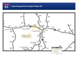 I-40 paving project map