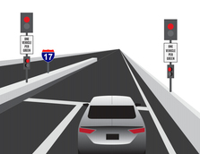 I-17 Ramp Meters Wrong-Way System Red Lights