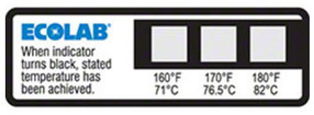 Dot temperature strip
