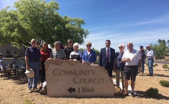 Community Church sign