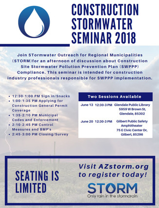Stormwater Construction Seminar - 2018